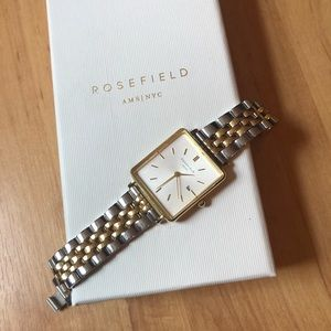 Rosefield The Boxy Watch in Mixed Metal Duo